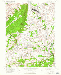 Rocky Hill New Jersey Historical topographic map, 1:24000 scale, 7.5 X 7.5 Minute, Year 1954