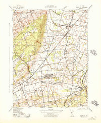 Rocky Hill New Jersey Historical topographic map, 1:31680 scale, 7.5 X 7.5 Minute, Year 1943