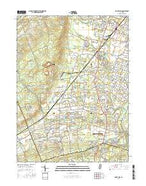 Rocky Hill New Jersey Current topographic map, 1:24000 scale, 7.5 X 7.5 Minute, Year 2016 from New Jersey Map Store