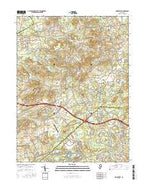 Roosevelt New Jersey Current topographic map, 1:24000 scale, 7.5 X 7.5 Minute, Year 2016 from New Jersey Map Store