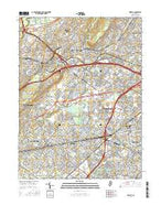 Roselle New Jersey Current topographic map, 1:24000 scale, 7.5 X 7.5 Minute, Year 2016 from New Jersey Map Store