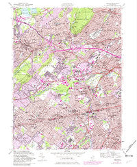 Roselle New Jersey Historical topographic map, 1:24000 scale, 7.5 X 7.5 Minute, Year 1955