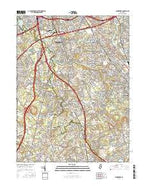Runnemede New Jersey Current topographic map, 1:24000 scale, 7.5 X 7.5 Minute, Year 2016 from New Jersey Map Store