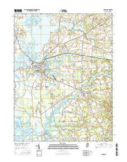 Salem New Jersey Current topographic map, 1:24000 scale, 7.5 X 7.5 Minute, Year 2016 from New Jersey Maps Store