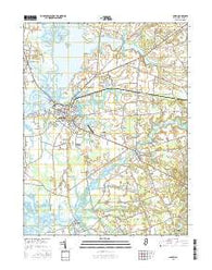 Salem New Jersey Current topographic map, 1:24000 scale, 7.5 X 7.5 Minute, Year 2016