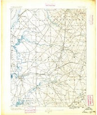 Salem New Jersey Historical topographic map, 1:62500 scale, 15 X 15 Minute, Year 1890