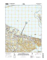 Sandy Hook West New Jersey Current topographic map, 1:24000 scale, 7.5 X 7.5 Minute, Year 2016