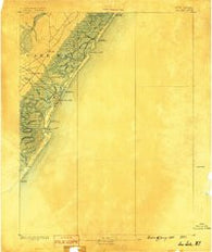 Sea Isle New Jersey Historical topographic map, 1:62500 scale, 15 X 15 Minute, Year 1888
