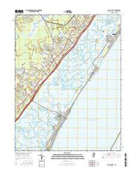 Sea Isle City New Jersey Current topographic map, 1:24000 scale, 7.5 X 7.5 Minute, Year 2016