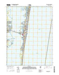 Seaside Park New Jersey Current topographic map, 1:24000 scale, 7.5 X 7.5 Minute, Year 2016