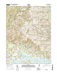 Shiloh New Jersey Current topographic map, 1:24000 scale, 7.5 X 7.5 Minute, Year 2016