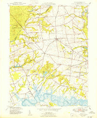 Shiloh New Jersey Historical topographic map, 1:24000 scale, 7.5 X 7.5 Minute, Year 1949
