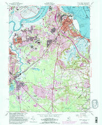 South Amboy New Jersey Historical topographic map, 1:24000 scale, 7.5 X 7.5 Minute, Year 1954