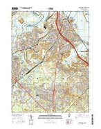 South Amboy New Jersey Current topographic map, 1:24000 scale, 7.5 X 7.5 Minute, Year 2016 from New Jersey Map Store