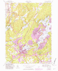 Stanhope New Jersey Historical topographic map, 1:24000 scale, 7.5 X 7.5 Minute, Year 1954