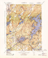 Stanhope New Jersey Historical topographic map, 1:31680 scale, 7.5 X 7.5 Minute, Year 1943