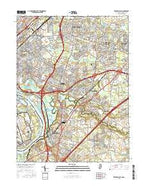 Trenton East New Jersey Current topographic map, 1:24000 scale, 7.5 X 7.5 Minute, Year 2016 from New Jersey Map Store
