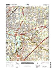 Trenton East New Jersey Current topographic map, 1:24000 scale, 7.5 X 7.5 Minute, Year 2016 from New Jersey Maps Store