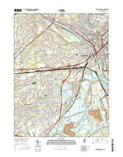 Trenton West New Jersey Current topographic map, 1:24000 scale, 7.5 X 7.5 Minute, Year 2016 from New Jersey Maps Store