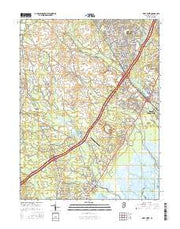 West Creek New Jersey Current topographic map, 1:24000 scale, 7.5 X 7.5 Minute, Year 2016 from New Jersey Maps Store