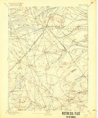 Whiting New Jersey Historical topographic map, 1:62500 scale, 15 X 15 Minute, Year 1888
