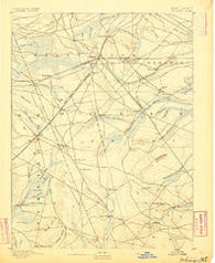 Whitings New Jersey Historical topographic map, 1:62500 scale, 15 X 15 Minute, Year 1884