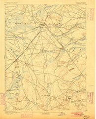 Whitings New Jersey Historical topographic map, 1:62500 scale, 15 X 15 Minute, Year 1888