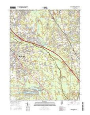Williamstown New Jersey Current topographic map, 1:24000 scale, 7.5 X 7.5 Minute, Year 2016 from New Jersey Maps Store
