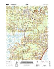 Woodbine New Jersey Current topographic map, 1:24000 scale, 7.5 X 7.5 Minute, Year 2016 from New Jersey Maps Store