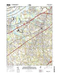 Woodbury New Jersey Current topographic map, 1:24000 scale, 7.5 X 7.5 Minute, Year 2016