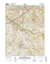 Woodstown New Jersey Current topographic map, 1:24000 scale, 7.5 X 7.5 Minute, Year 2016
