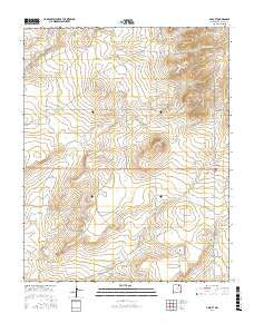 Abbott New Mexico Current topographic map, 1:24000 scale, 7.5 X 7.5 Minute, Year 2017