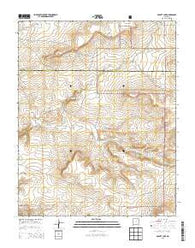 Abbott Lake New Mexico Current topographic map, 1:24000 scale, 7.5 X 7.5 Minute, Year 2013