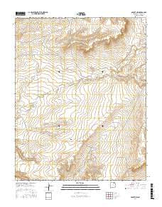 Abbott NW New Mexico Current topographic map, 1:24000 scale, 7.5 X 7.5 Minute, Year 2017