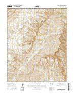 Adobe Downs Ranch New Mexico Current topographic map, 1:24000 scale, 7.5 X 7.5 Minute, Year 2017 from New Mexico Map Store