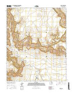 Albert New Mexico Current topographic map, 1:24000 scale, 7.5 X 7.5 Minute, Year 2017 from New Mexico Map Store