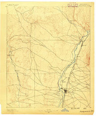 Albuquerque New Mexico Historical topographic map, 1:125000 scale, 30 X 30 Minute, Year 1889