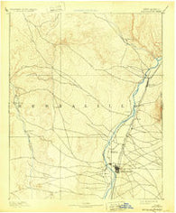 Albuquerque New Mexico Historical topographic map, 1:125000 scale, 30 X 30 Minute, Year 1893