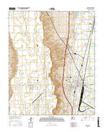 Belen New Mexico Current topographic map, 1:24000 scale, 7.5 X 7.5 Minute, Year 2017 from New Mexico Map Store