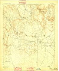 Bernal New Mexico Historical topographic map, 1:125000 scale, 30 X 30 Minute, Year 1891
