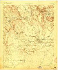 Bernal New Mexico Historical topographic map, 1:125000 scale, 30 X 30 Minute, Year 1894