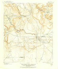 Bernal New Mexico Historical topographic map, 1:125000 scale, 30 X 30 Minute, Year 1890
