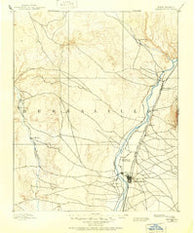 Bernalillo New Mexico Historical topographic map, 1:125000 scale, 30 X 30 Minute, Year 1888