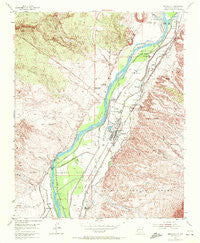 Bernalillo New Mexico Historical topographic map, 1:24000 scale, 7.5 X 7.5 Minute, Year 1954
