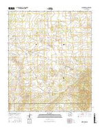 Bigbee Draw New Mexico Current topographic map, 1:24000 scale, 7.5 X 7.5 Minute, Year 2017 from New Mexico Map Store