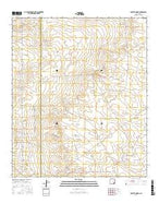 Bootleg Ridge New Mexico Current topographic map, 1:24000 scale, 7.5 X 7.5 Minute, Year 2017 from New Mexico Map Store