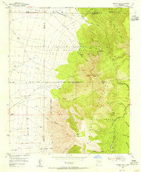 Bosque Peak New Mexico Historical topographic map, 1:24000 scale, 7.5 X 7.5 Minute, Year 1954