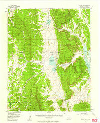 Boulder Lake New Mexico Historical topographic map, 1:62500 scale, 15 X 15 Minute, Year 1955