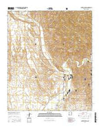 Canteen Canyon New Mexico Current topographic map, 1:24000 scale, 7.5 X 7.5 Minute, Year 2017 from New Mexico Map Store