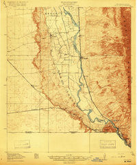 Canutillo Texas Historical topographic map, 1:62500 scale, 15 X 15 Minute, Year 1919